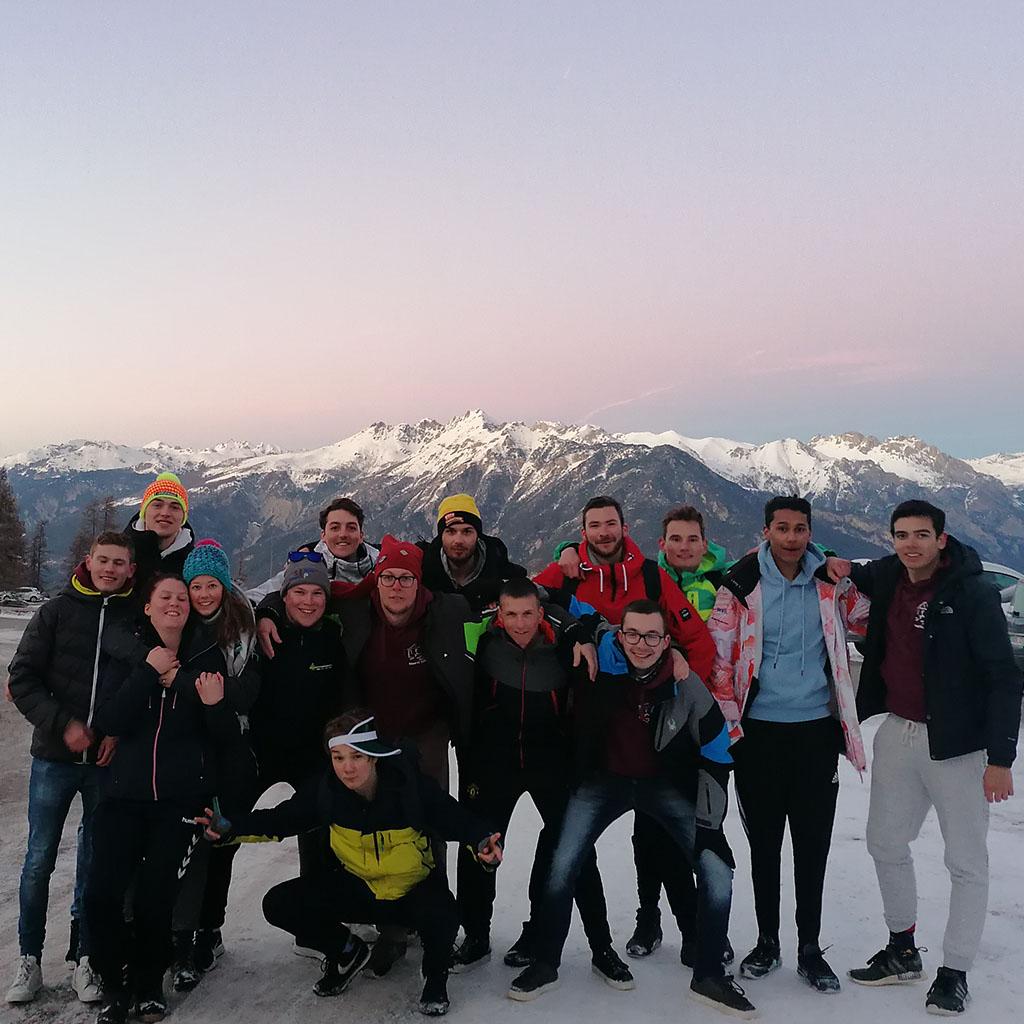 Wintersportcommissiegroepsfoto